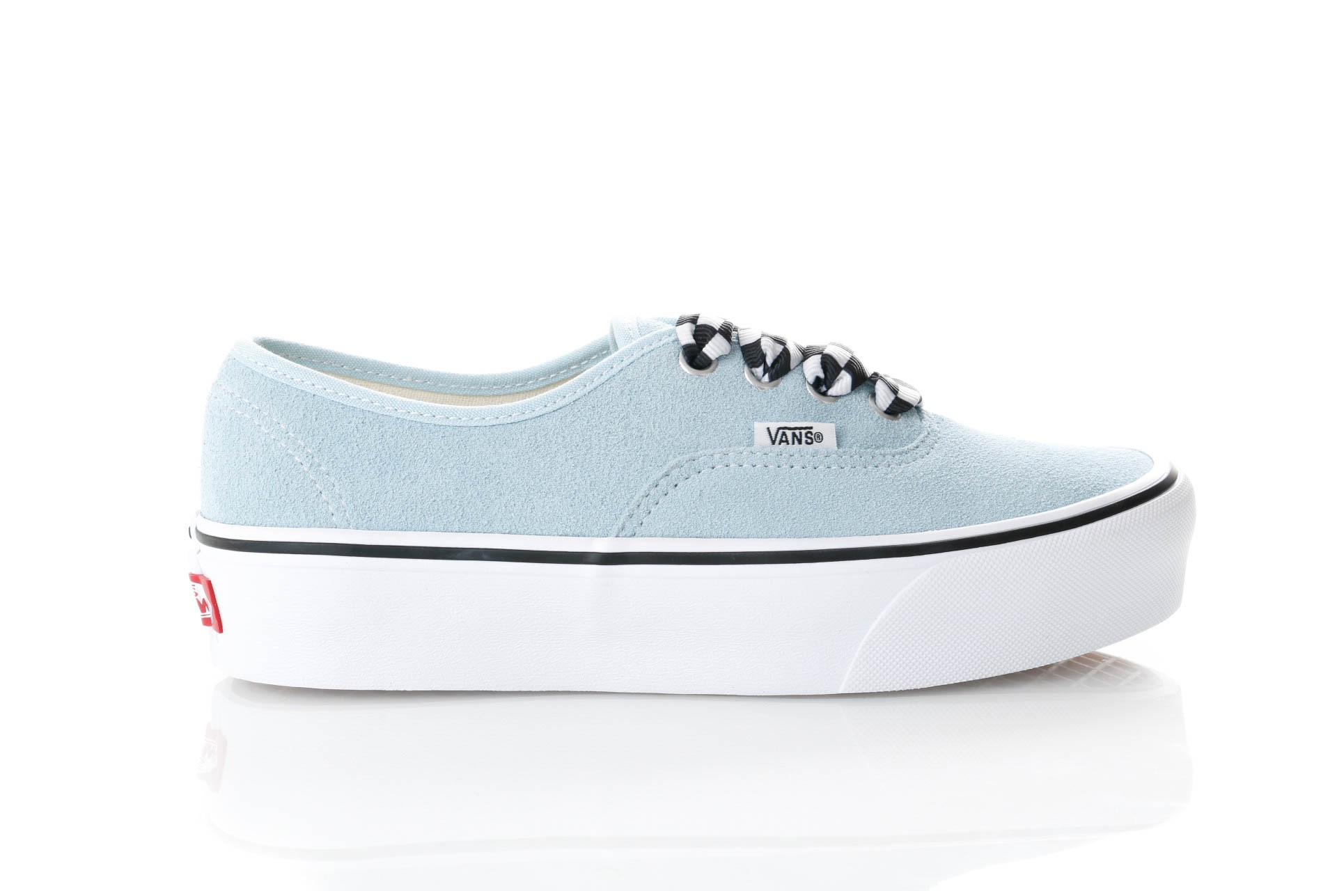 Foto van Vans Ua Authentic Platform 2.0 Vn0A3Av8S1X Sneakers (Checkerboard Lace) Cool Blue/True White