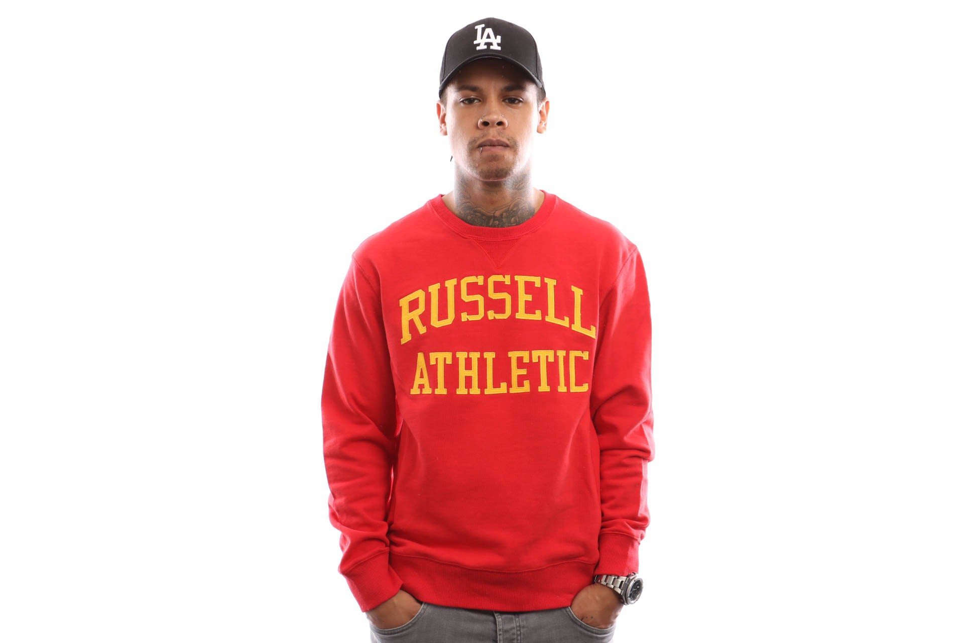 Foto van Russell Athletic Iconic Tackle Twill A9-003-1 Crewneck True Red