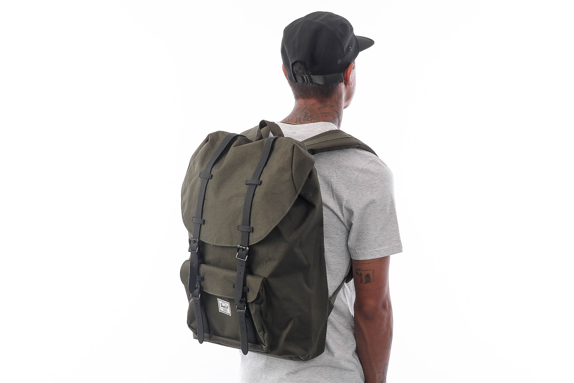 Foto van Herschel Supply Little America 10014-02262-OS Rugzak Forest Night/Black
