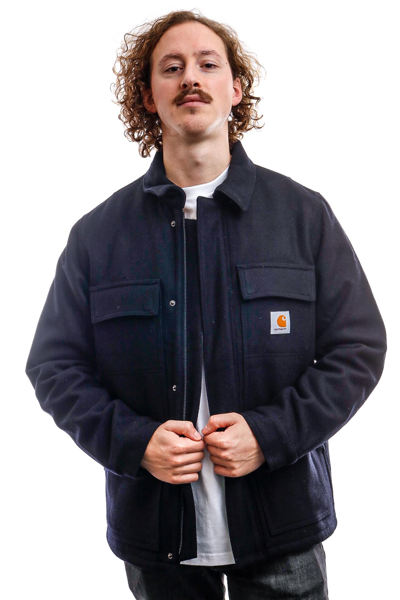 Foto van Carhartt Jacket Wool Arctic Coat Dark Navy I028124