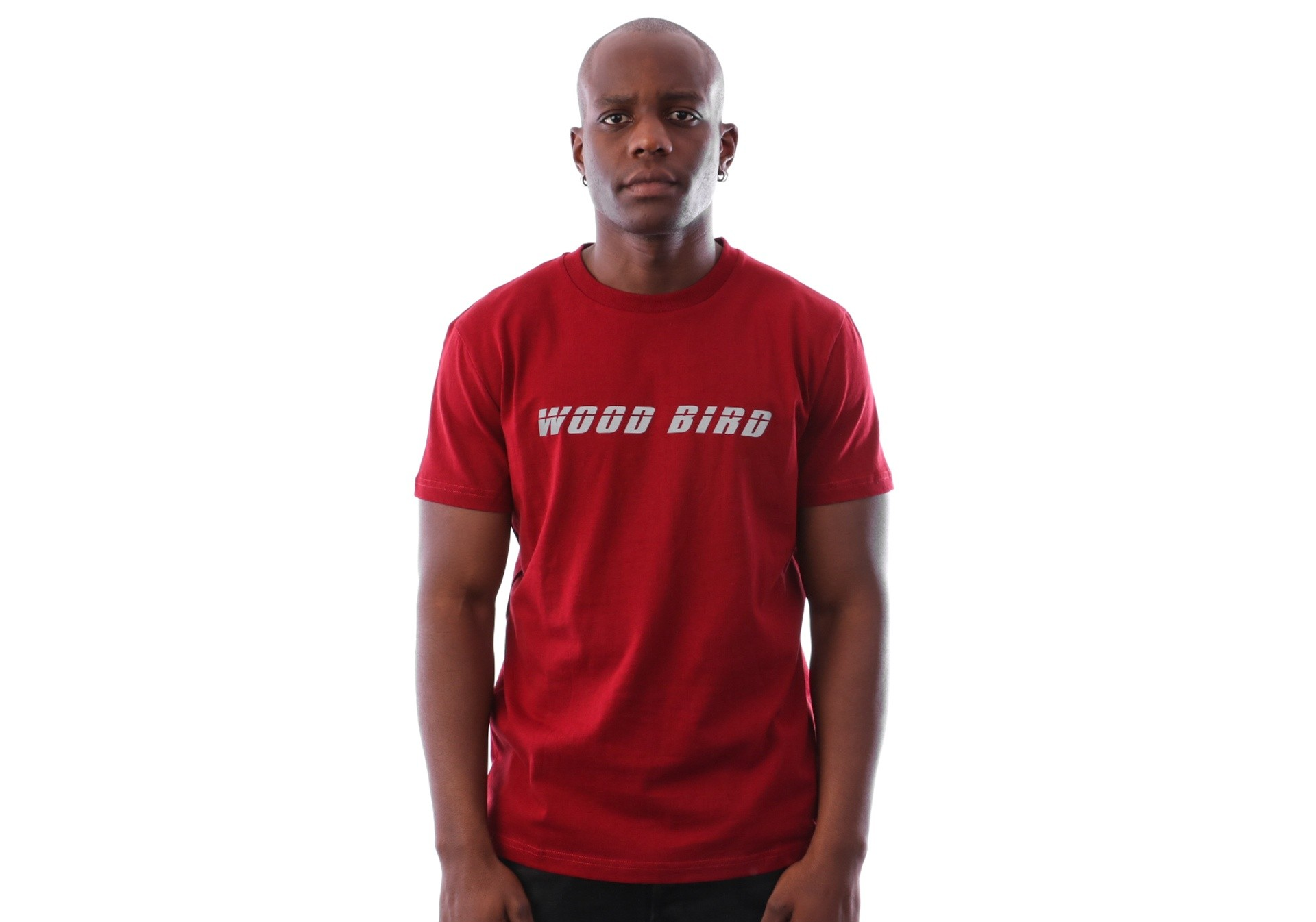 Foto van Wood Bird Runners Tee 1836-400 t-shirt Red Pepper