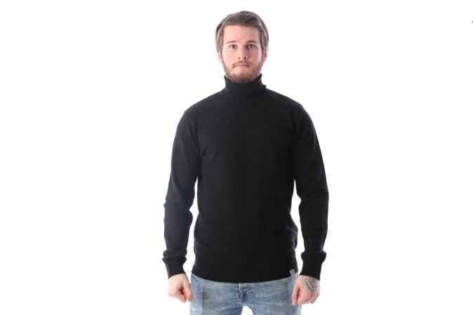 Foto van Carhartt Wip I023368-8900 Sweater Playoff Turtleneck Zwart