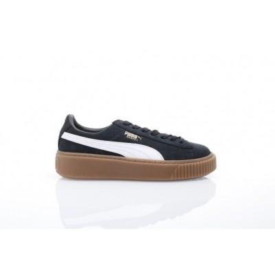 Puma Ladies 366807-02 Sneakers Basket platform perf gum Zwart