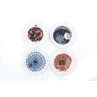 Afbeelding van Carhartt WIP I024327-0800 Onderzetters Glass coaster set Multicolor