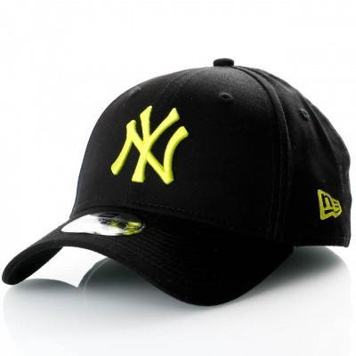 Afbeelding van New Era League Essential 9Forty 11871476 Dad Cap Black/Cyber Green Mlb New York Yankees
