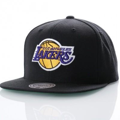 Mitchell & Ness NL15Z Snapback cap Wool solid LA Lakers Zwart
