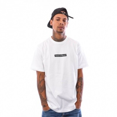 Afbeelding van Raised by Wolves Registered Box Logo Tee RBWFW18501 t Shirt White Jersey