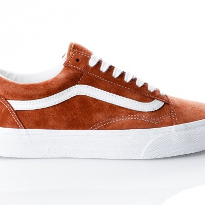Afbeelding van Vans UA Old Skool VA38G1U5K Sneakers (Pig Suede) leather brown/true white