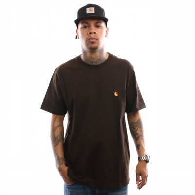 Afbeelding van Carhartt WIP S/S Chase T-Shirt I021949 T shirt Tobacco / Gold