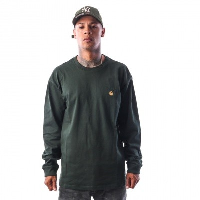 Carhartt WIP L/S Chase I022923 Longsleeve Loden / Gold