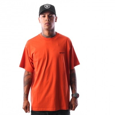 Carhartt WIP S/S Script Embroidery T-Shirt I025778 T-shirt Persimmon / Black