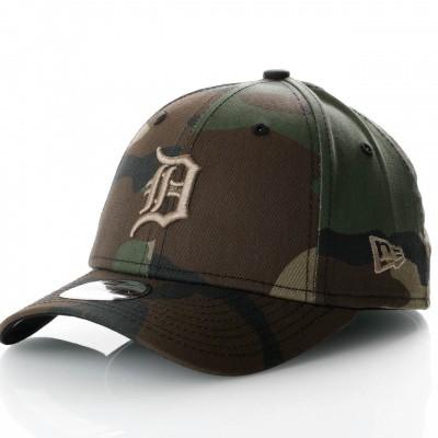 Afbeelding van New Era Camo Essential 9Forty 11871652 Dad Cap Woodland Camo Mlb Detroit Tigers