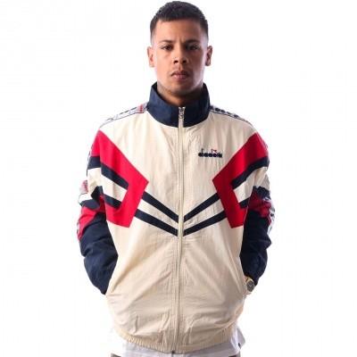 Diadora track jacket mvb 502173618 Track Jacket ivory white