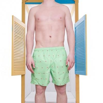 Pockies Swimshort Star Beach Mint Green - Ice Cones