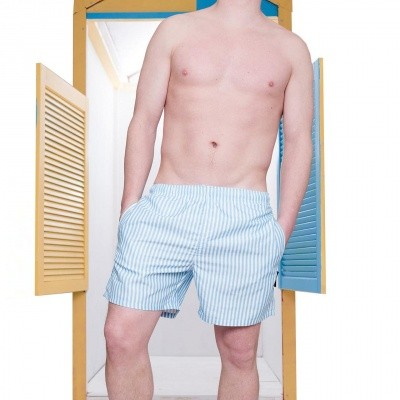 Pockies Swimshort Callela Baby Blue / White
