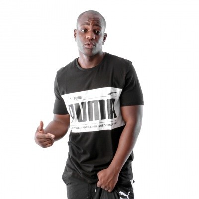Puma Graphic Logi Block Tee 577126 T-Shirt Black-White
