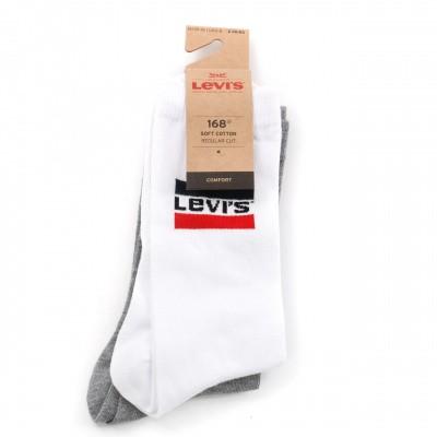 Afbeelding van Levi'S Bodywear Regular Cut Sprtswr Logo 983041001 Sokken White / Grey