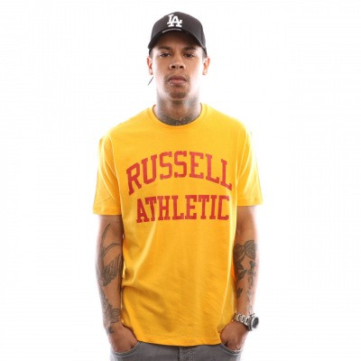 Afbeelding van Russell Athletic Iconic Short Sleeve A9-002-1 T shirt Gold Fusin