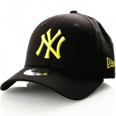 Afbeelding van New Era Kids League Essential 9Forty 11871493 Dad Cap Black/Cyber Green New York Yankees