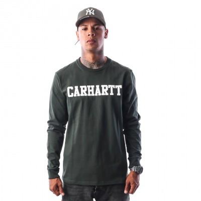 Afbeelding van Carhartt WIP L/S College T-Shirt I024805 Longsleeve Loden / White
