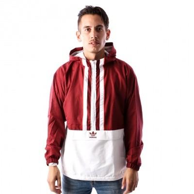 Adidas AUTH ANORAK DJ2853 jas NOBLE MAROON/WHITE