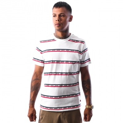 Afbeelding van Levi`s SS SET-IN MISSION TEE 29814-0023 T-Shirt White/Chinese Red/Black