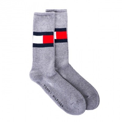 Afbeelding van Tommy Hilfiger TH FLAG 1P 481985001 sokken middle grey melange