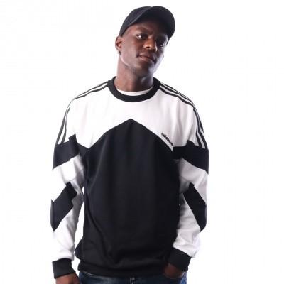 Adidas Palmeston Crew DJ3455 crewneck BLACK/WHITE