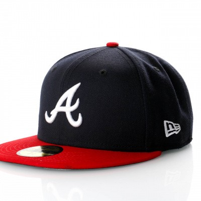 Afbeelding van New Era Ac Perf 59Fifty 70361069 Fitted Cap Offical Team Colour Mlb Atlanta Braves
