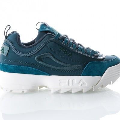 Afbeelding van Fila Disruptor Satin low wmn 1010437 Sneakers atlantic deep