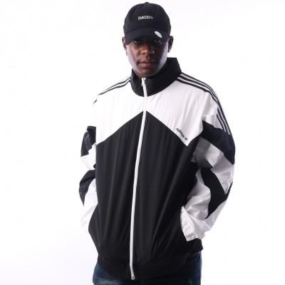 Adidas Palmeston Windbreaker DJ3450 jas BLACK/WHITE