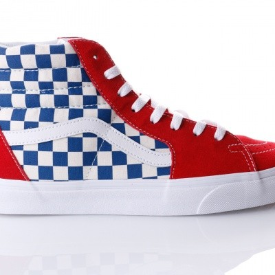 Afbeelding van Vans UA SK8-Hi VA38GEU8H Sneakers (BMX Checkerboard) true blue/red
