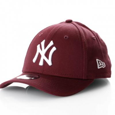 Afbeelding van New Era Kids League Essential 9Forty 11871490 Dad Cap Maroon/Optic White Mlb New York Yankees