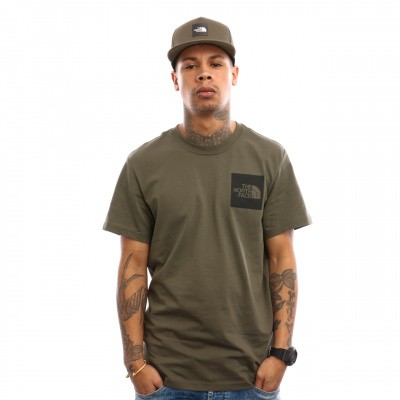 Afbeelding van The North Face M S/S Fine Tee T0CEQ5 T shirt New Taupe Green