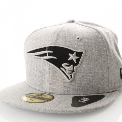 Afbeelding van New Era Nfl Heather 5950 New England Patriots 11794649 Fitted Cap Heather Gray/Black Nfl
