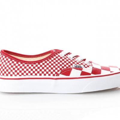 Afbeelding van Vans Ua Authentic Vn0A38Emvk5 Sneakers (Mix Checker) Chili Pepper/True White