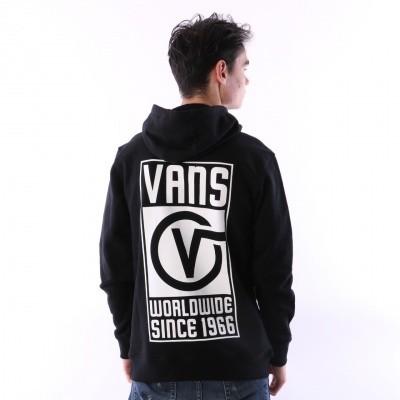 Vans VA3H99-BLK Hooded Vans worldwide Zwart
