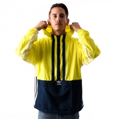 Adidas AUTH ANORAK DH3842 jas SHOCK YELLOW/COLL.NAVY