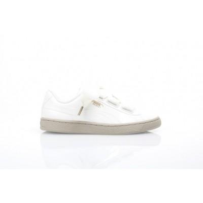 Afbeelding van Puma Ladies 363073-06 Sneakers Basket heart patent Wit