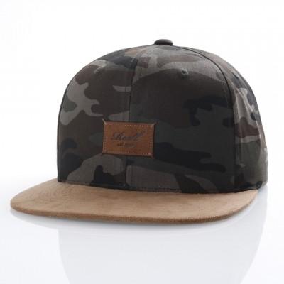 Afbeelding van Reell Snapback cap Suede 6-Panel Camouflage
