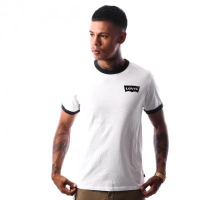 Levi`s SS RINGER TEE HOUSEMARK 39969-0009 T-Shirt Hm Ringer White/Black