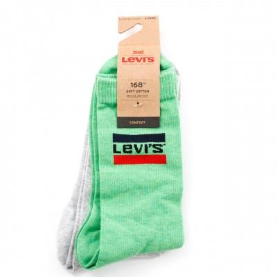 Afbeelding van Levi'S Bodywear Regular Cut Sprtswr Logo 983041001 Sokken Green