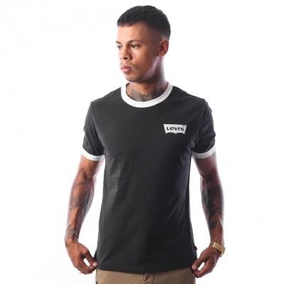 Levi`s SS RINGER TEE HOUSEMARK 39969-0010 T-Shirt Hm Ringer Black/White