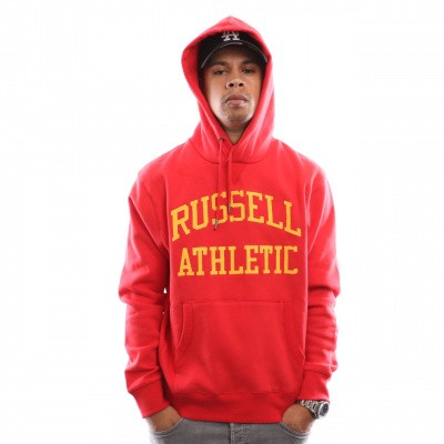 Afbeelding van Russell Athletic Iconic Tackle Twill Pull Over A9-004-1 Hooded Red