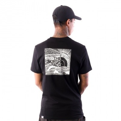 Afbeelding van The North Face M SS REDBOX CEL TEE T92ZXEJK3 T shirt TNF BLACK