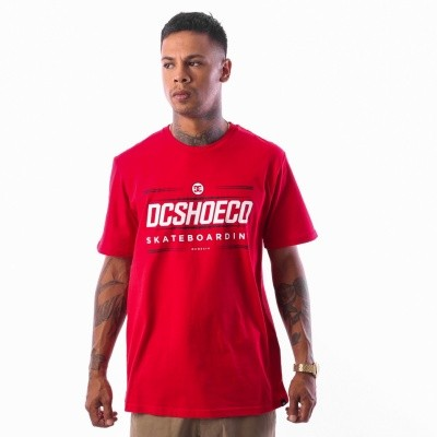 DC FOUR BASE SS M TEES RRH0 EDYZT03754 t-shirt Tango red