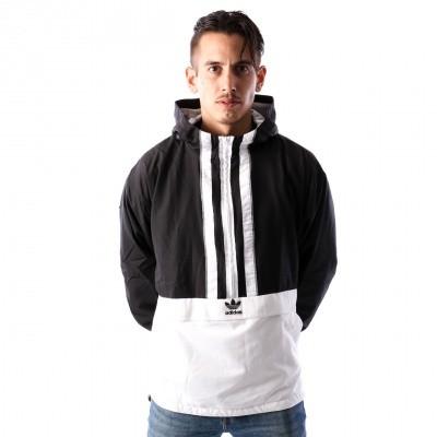 Afbeelding van Adidas AUTH ANORAK DH3841 jas BLACK/WHITE