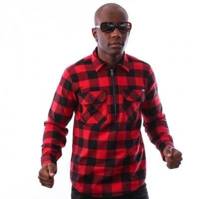 Afbeelding van Carhartt WIP L/S Francis Shirt I025231 Shirt Francis Check, Blast Red