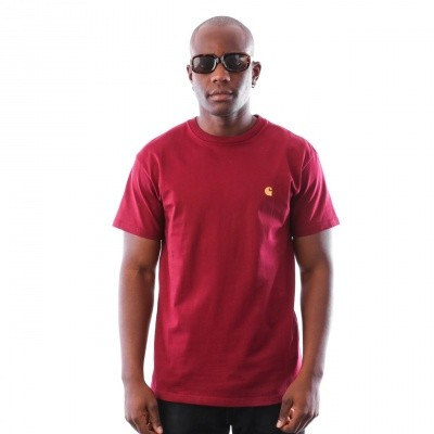 Afbeelding van Carhartt WIP S/S Chase T-Shirt I021949 T-shirt Mulberry / Gold