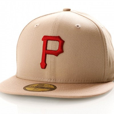 Afbeelding van New Era League Essential 59Fifty 11871511 Fitted Cap Camel/Hot Red Pittsburgh Pirates